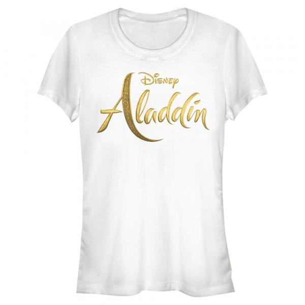 Aladdin Live Action Logo Text - Disney - Women's T-Shirt - White - Front