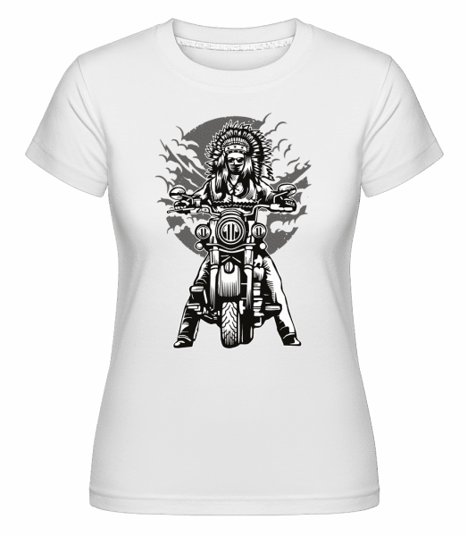 Indian Chief Motorcycle -  Shirtinator Women's T-Shirt - White - Vorn