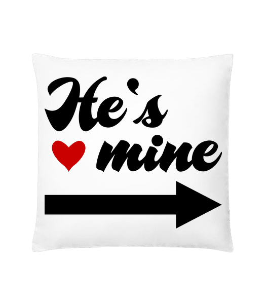 He's Mine - Cushion - White - Vorn