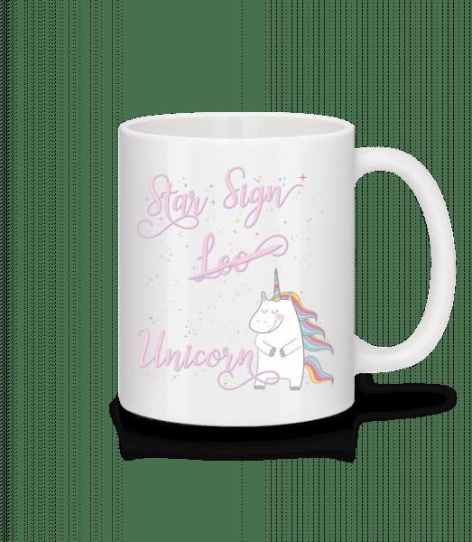 Star Sign Unicorn Leo - Keramický hrnek - Bílá - Napřed