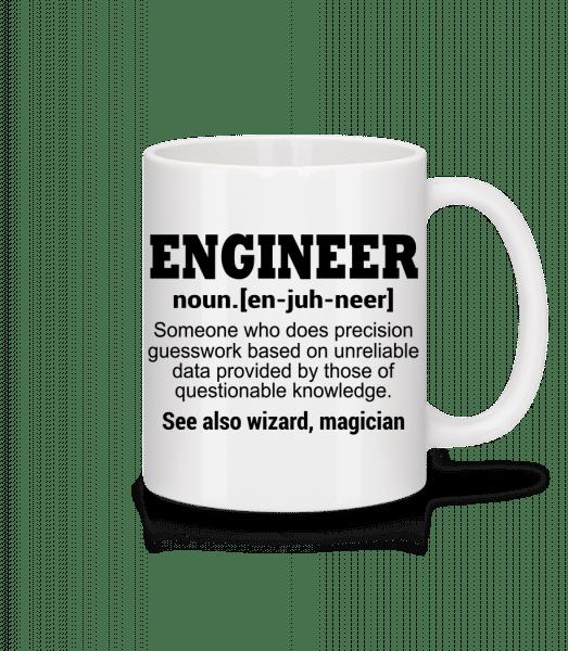 inžinier Defenition - Keramický hrnček - Biela - Predné