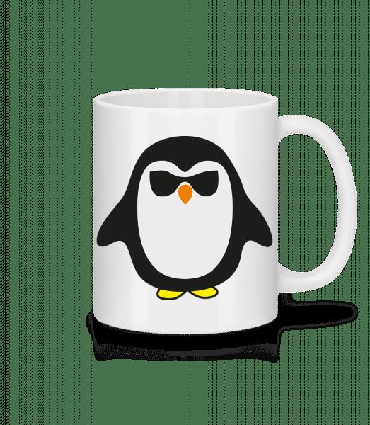 Cooler Pinguin Schwarze Brille - Tasse - Weiß - Vorn