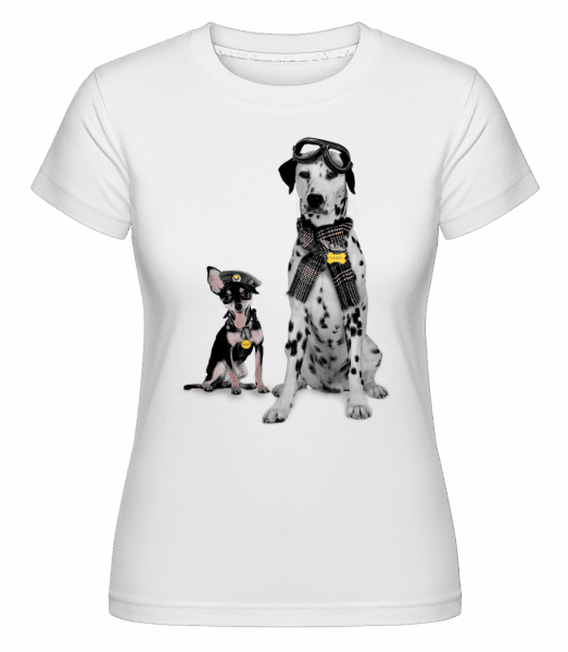 Dogs Military -  Shirtinator Women's T-Shirt - White - Vorn