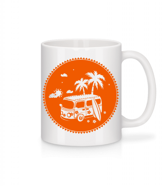 Holiday Icon Orange - Mug - White - Front