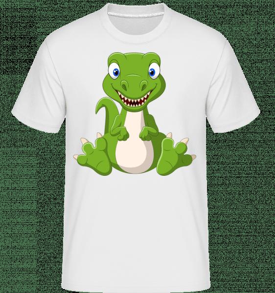 Naughty Dinosaur -  Shirtinator Men's T-Shirt - White - Vorn