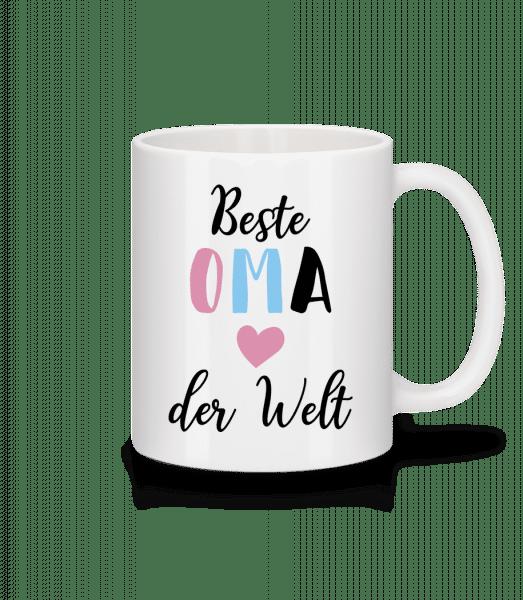 Beste Oma Der Welt - Tasse - Weiß - Vorn