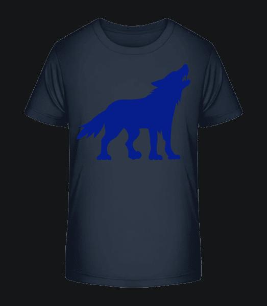 Zähne Fletschender Wolf - Kinder Premium Bio T-Shirt - Marine - Vorn