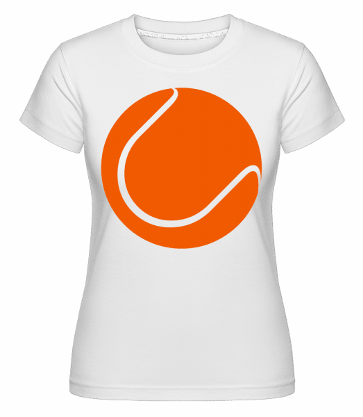 Tennis Ball -  Shirtinator Women's T-Shirt - White - Vorn