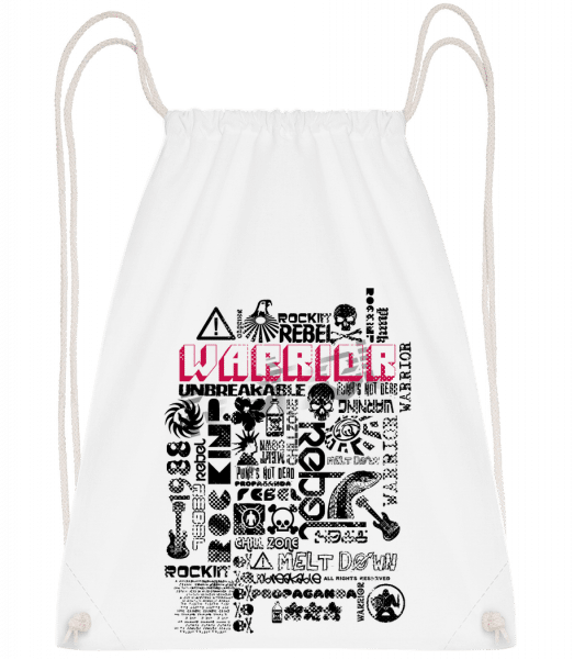 Pop Culture - Drawstring Backpack - White - Vorn