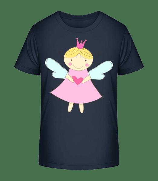 Petite Fée Princesse - T-shirt bio Premium Enfant - Bleu marine - Vorn