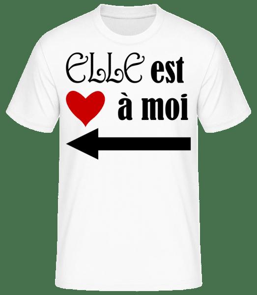 Elle Est À Moi - T-shirt standard Homme - Blanc - Devant