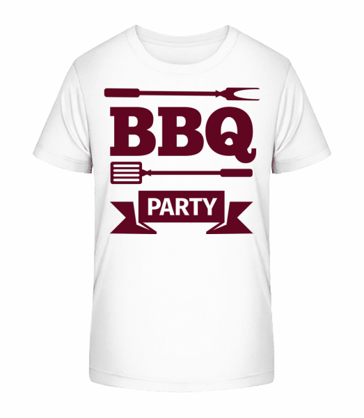 BBQ Party Icon - Kid's Premium Bio T-Shirt - White - Front