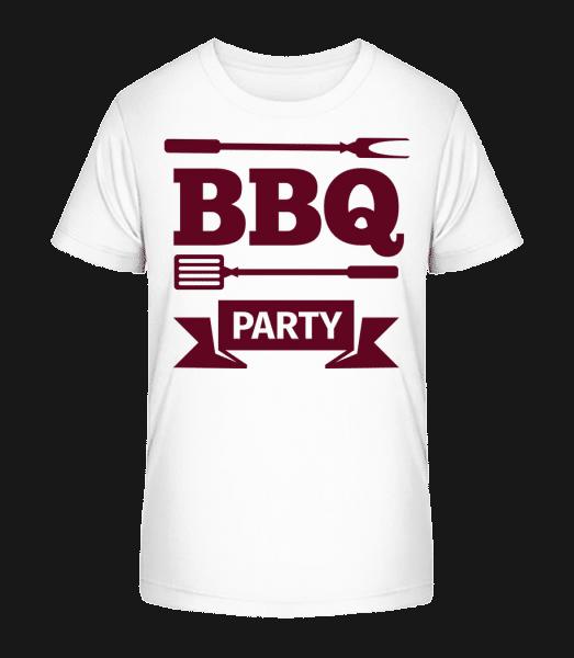BBQ Party Icon - Detské Premium Bio tričko - Biela - Predné