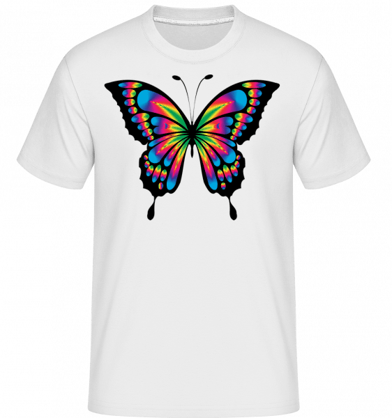 Rainbow Butterfly -  Shirtinator Men's T-Shirt - White - Front