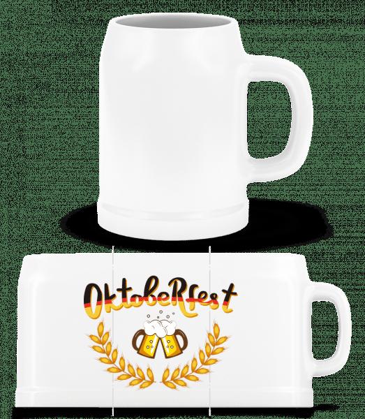 Deutschland Oktoberfest - Beer Mug - White - Vorn