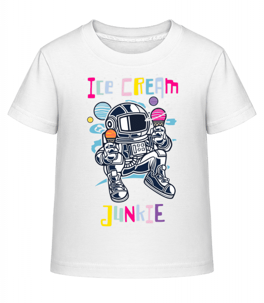 Astronaut Ice Cream - Kid's Shirtinator T-Shirt - White - Vorn