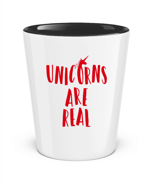 Unicorns Are Real - Two-Toned Shot Glass - White - Vorn
