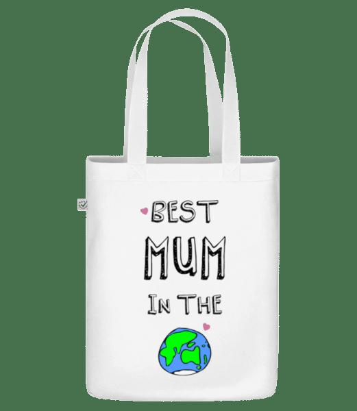 Worlds Best Mum - Bio Tasche - Weiß - Vorn