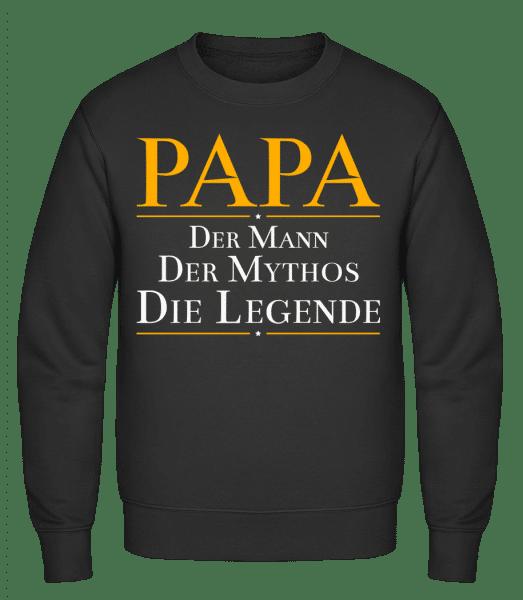 Papa Der Mann Der Mythos Die Leg - Männer Pullover - Schwarz - Vorn