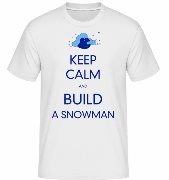 Build A Snowman Sign -  T-Shirt Shirtinator homme - Blanc - Vorn