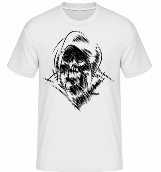 Gothic Skull -  Shirtinator Men's T-Shirt - White - Vorn