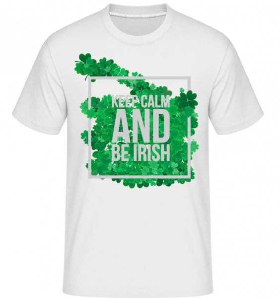 Keep Calm And Be Irish Logo -  Shirtinator Men's T-Shirt - White - Vorn