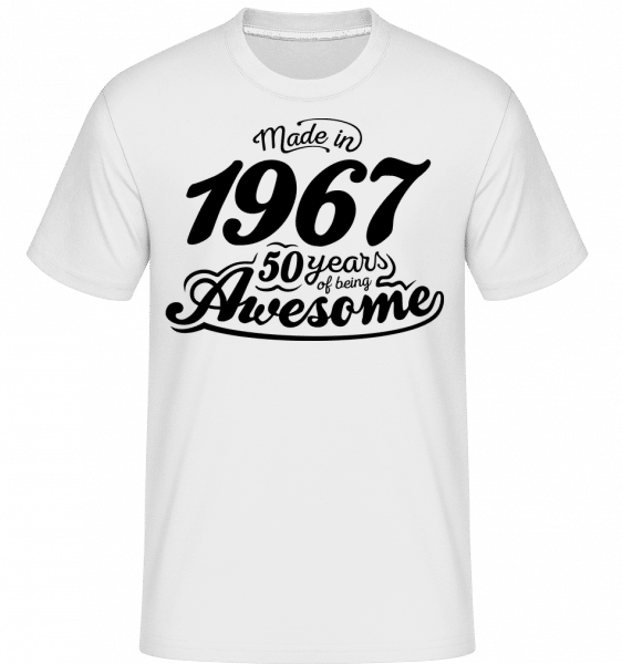 Made In 1967 -  T-Shirt Shirtinator homme - Blanc - Devant