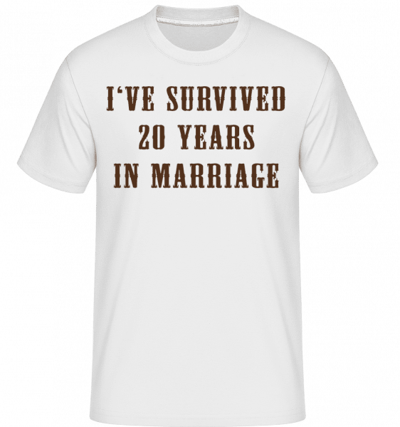 I've Survived 20 Years In Marria -  Shirtinator tričko pro pány - Bílá - Napřed