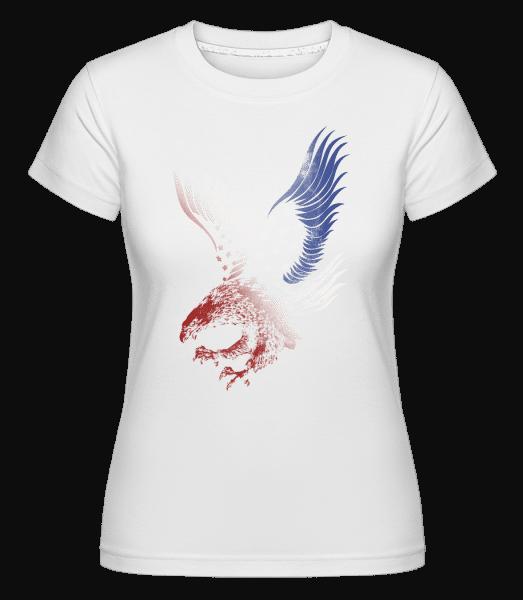 Amerikanischer Adler - Shirtinator Frauen T-Shirt - Weiß - Vorn