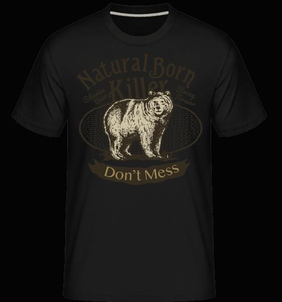 Siberian Bear -  Shirtinator Men's T-Shirt - Black - Front