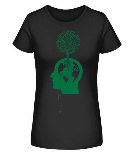 Nature And Environment Head - Women's Premium Organic T-Shirt Stanley Stella - Black - Front