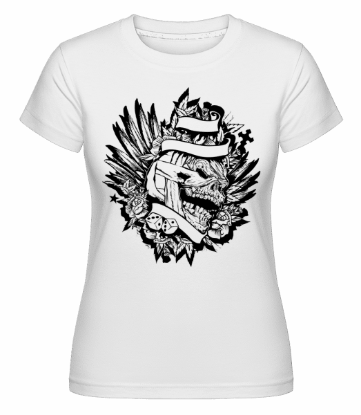 Mummified Skull Tattoo -  Shirtinator Women's T-Shirt - White - Vorn