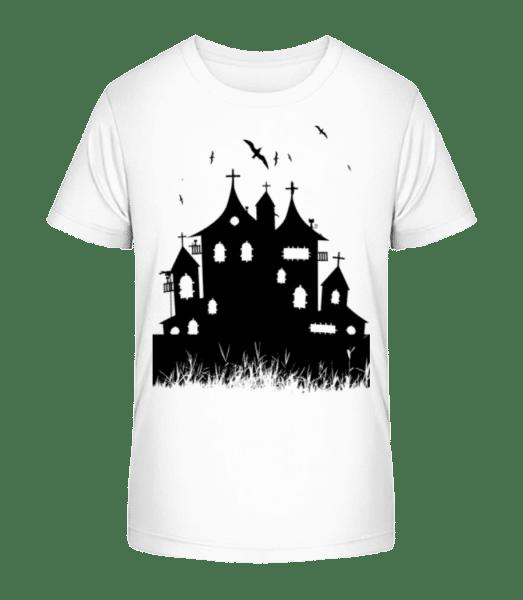 Halloween Castle - Kid's Premium Bio T-Shirt - White - Front