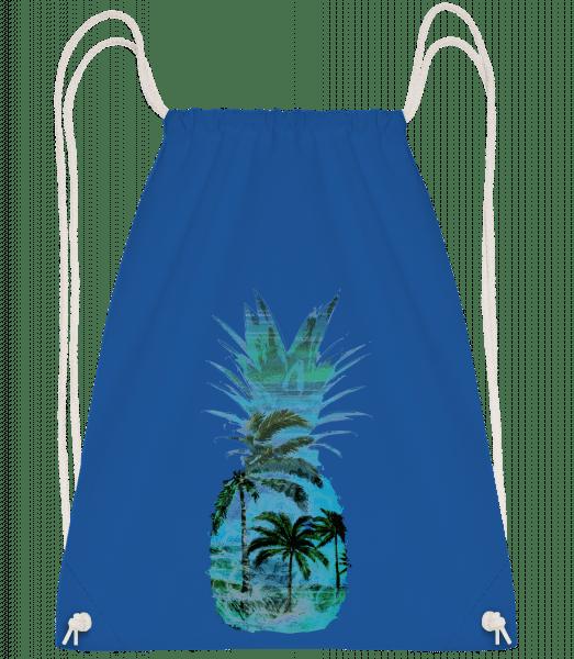 Pineapple Palms - Drawstring Backpack - Royal blue - Vorn