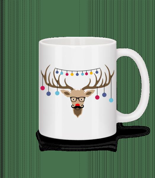 Weihnachten Rentier - Tasse - Weiß - Vorn
