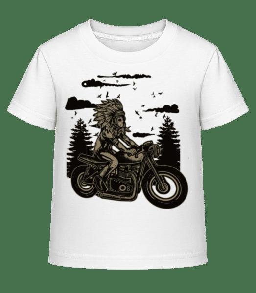 Indian Chief Rider - Kid's Shirtinator T-Shirt - White - Vorn