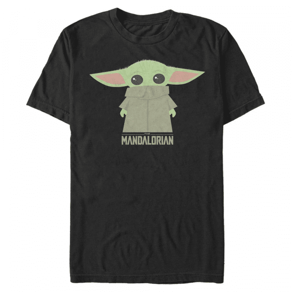 The Child Covered Face - Star Wars Mandalorian - Men's T-Shirt - Black - Front