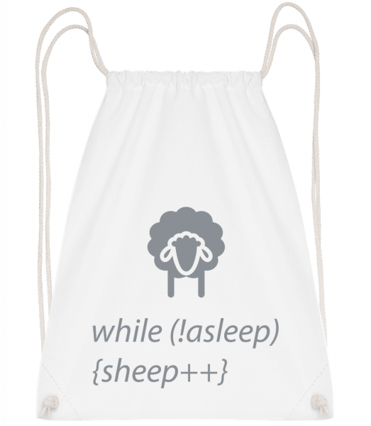 While Not Asleep - Drawstring Backpack - White - Vorn