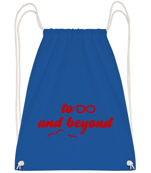 To Infinity And Beyond - Drawstring Backpack - Royal blue - Vorn