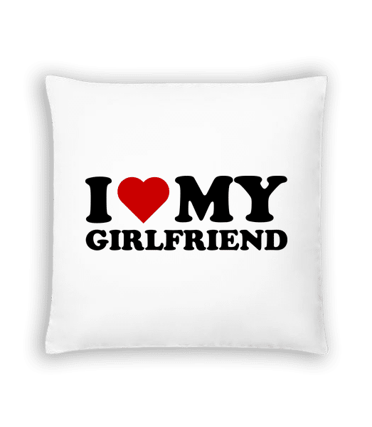 I Love My Girlfriend - Cushion - White - Vorn