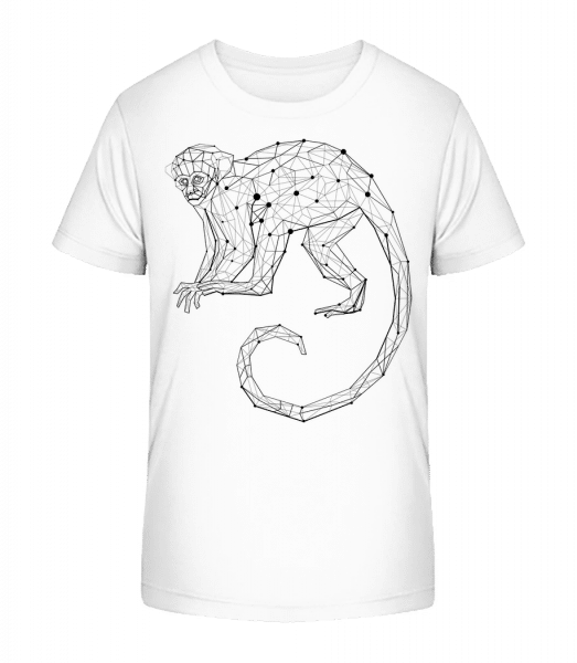 Polygon Singe - T-shirt bio Premium Enfant - Blanc - Vorn