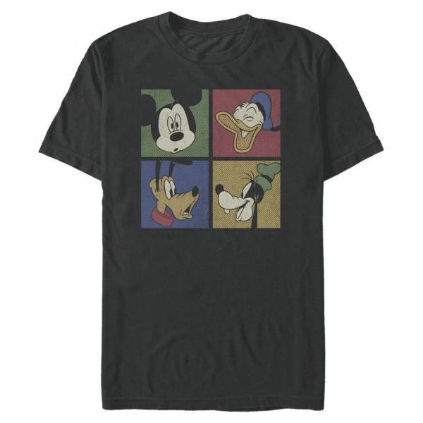 Block Party Group Shot - Disney Mickey - Men's T-Shirt - Black - Front