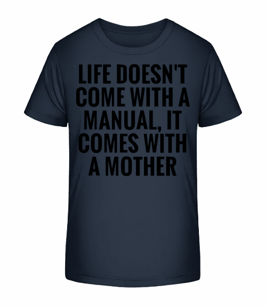 Mother Manual - Kid's Premium Bio T-Shirt - Navy - Vorn