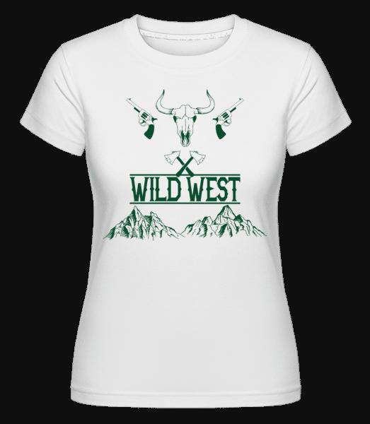 Wild West Icon Green -  Shirtinator Women's T-Shirt - White - Vorn