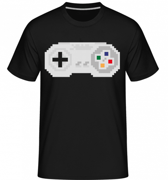 Consoles Controller Oldschool -  Shirtinator Men's T-Shirt - Black - Vorn