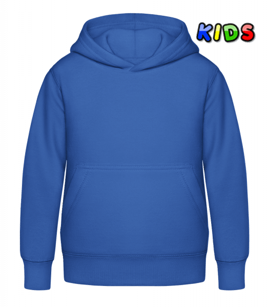 Kid's Hoodie - Royal blue - Front