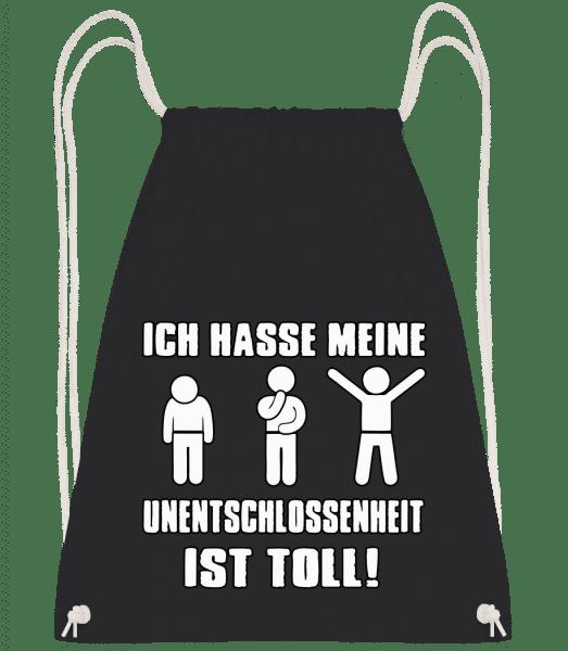 Unentschlossenheit - Turnbeutel - Schwarz - Vorn