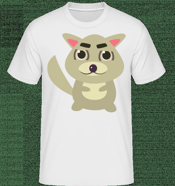 Racoon Comic -  Shirtinator tričko pro pány - Bílá - Napřed