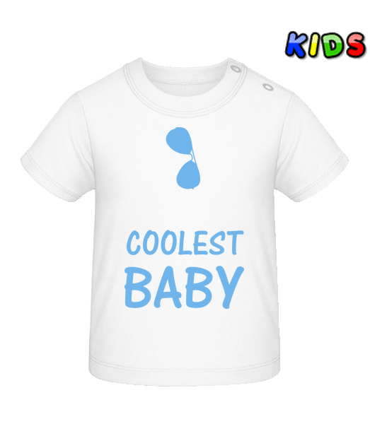 Coolest Baby - Baby T-Shirt - White - Front