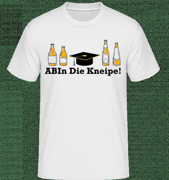 ABIn DIe Kneipe - Shirtinator Männer T-Shirt - Weiß - Vorn